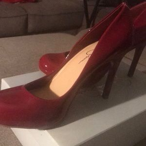 Size 9.5, Jessica Simpson, High Heels, Ruby Red